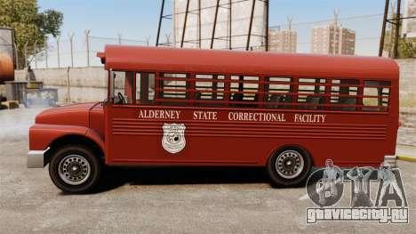 GTA IV TLAD Prison Bus для GTA 4 вид слева