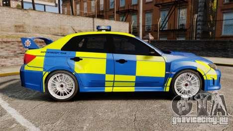 Subaru Impreza WRX STI 2011 Police [ELS] для GTA 4 вид слева