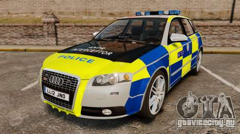 Audi S4 Avant Metropolitan Police [ELS] для GTA 4