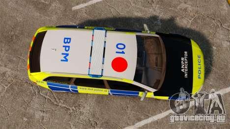 Audi RS6 Avant Metropolitan Police [ELS] для GTA 4 вид справа