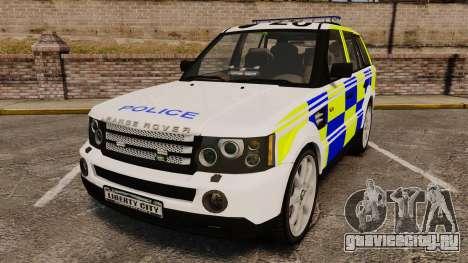 Range Rover Sport Metropolitan Police [ELS] для GTA 4