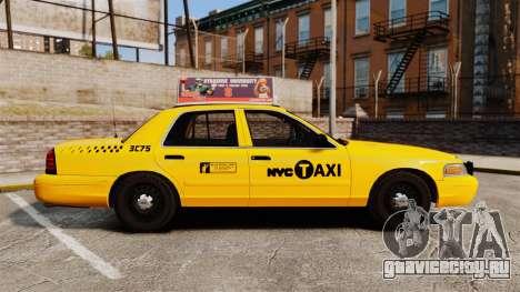 Ford Crown Victoria 1999 NYC Taxi v1.1 для GTA 4 вид слева