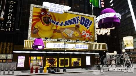Рестораны McDonalds и Taco Bell для GTA 4 пятый скриншот