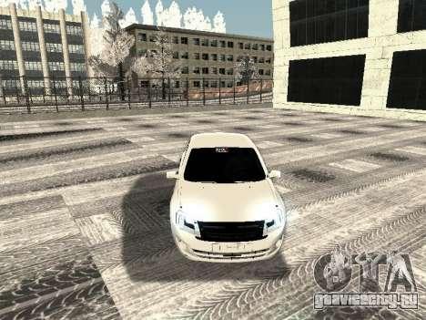 Ваз 2190-1119 для GTA San Andreas вид изнутри