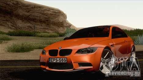 BMW M3 E92 2008 Vossen для GTA San Andreas вид справа