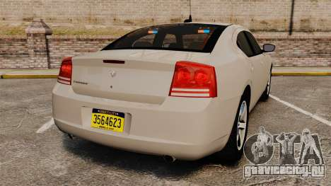 Dodge Charger Unmarked Police [ELS] для GTA 4 вид сзади слева