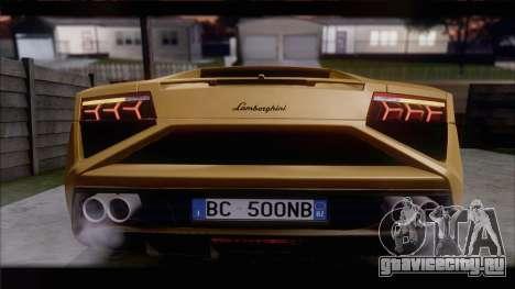 Lamborghini Gallardo LP560-4 Coupe 2013 V1.0 для GTA San Andreas вид сзади слева