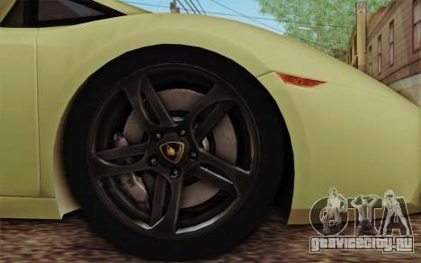 Lamborghini Gallardo SE для GTA San Andreas вид сзади слева