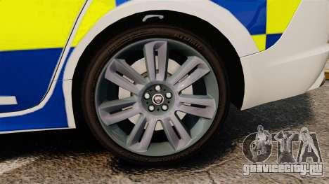 Jaguar XFR 2010 Police Marked [ELS] для GTA 4 вид сзади