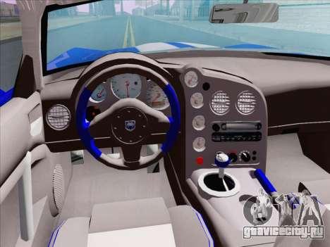 Dodge Viper SRT-10 Coupe для GTA San Andreas вид сбоку
