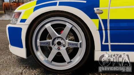 Mitsubishi Lancer Evolution IX Police [ELS] для GTA 4 вид сзади