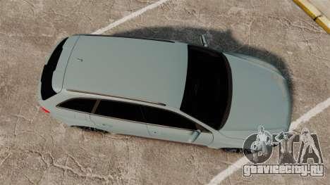 Audi RS4 Avant для GTA 4 вид справа