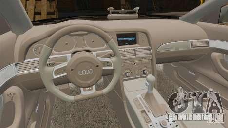 Audi RS6 Avant Metropolitan Police [ELS] для GTA 4 вид изнутри