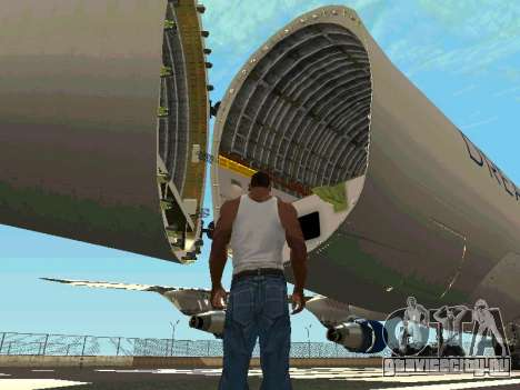 Boeing-747 Dream Lifter для GTA San Andreas вид изнутри