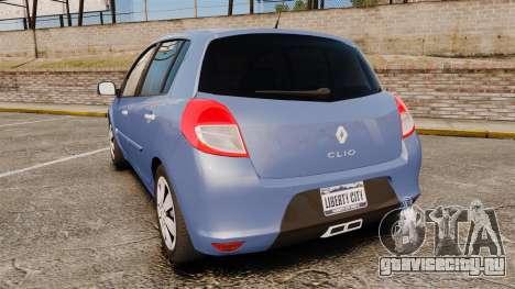 Renault Clio III Phase 2 для GTA 4 вид сзади слева