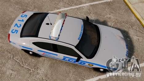 Dodge Charger LCPD [ELS] для GTA 4 вид справа