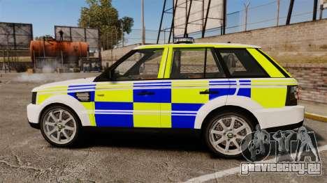 Range Rover Sport Metropolitan Police [ELS] для GTA 4 вид слева