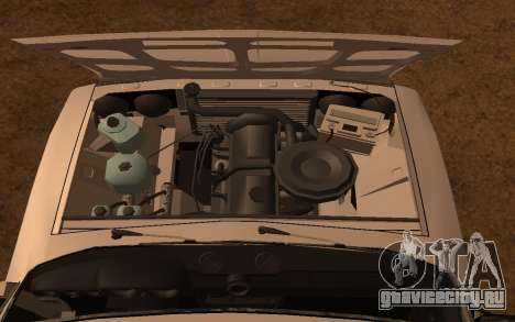 ВАЗ 2106 ДПС для GTA San Andreas вид сзади