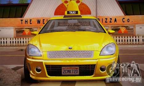 Declasse Premier Taxi для GTA San Andreas вид снизу