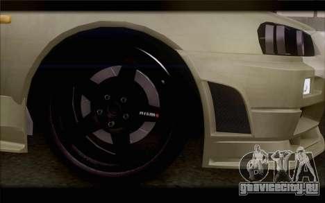 Nissan Skyline R34 Z-Tune для GTA San Andreas вид сзади слева