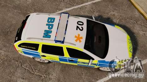 Skoda Octavia Scout RS Metropolitan Police [ELS] для GTA 4 вид справа