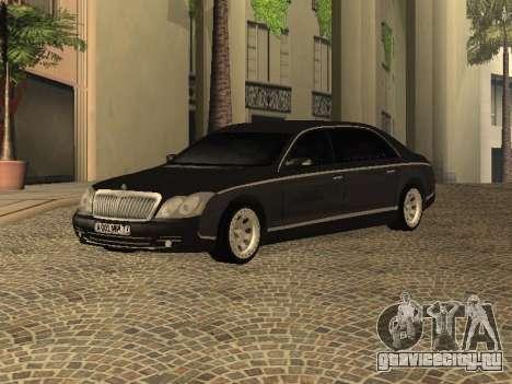 Maybach 62 V2.0 для GTA San Andreas