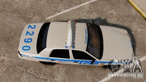 Ford Crown Victoria LCPD [ELS] для GTA 4 вид справа