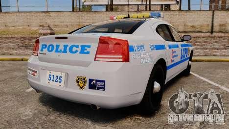 Dodge Charger LCPD [ELS] для GTA 4 вид сзади слева
