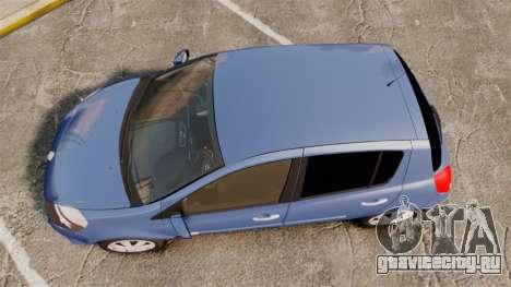 Renault Clio III Phase 2 для GTA 4 вид справа