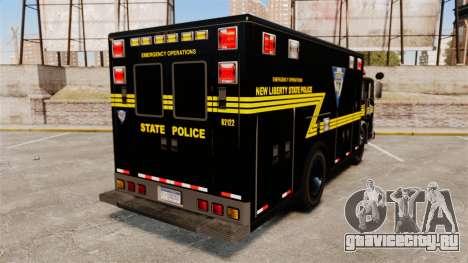 Hazmat Truck NLSP Emergency Operations [ELS] для GTA 4 вид сзади слева