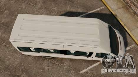 Ford Transit Passenger для GTA 4 вид справа