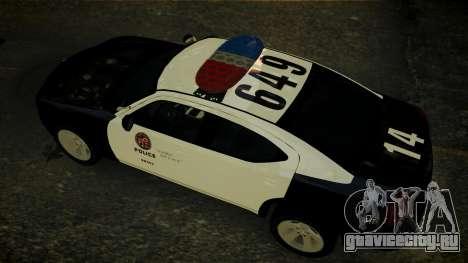Dodge Charger LAPD 2008 для GTA 4 вид изнутри