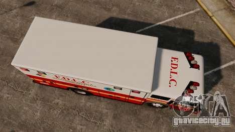 Hazmat Truck FDLC [ELS] для GTA 4 вид справа
