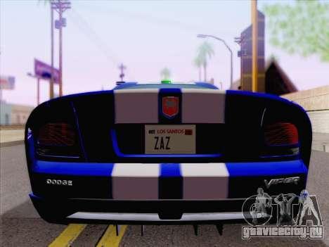 Dodge Viper SRT-10 Coupe для GTA San Andreas вид сверху