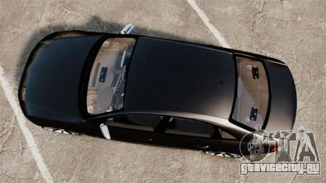 Audi S4 Unmarked Police [ELS] для GTA 4 вид справа