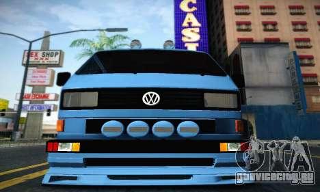 Volkswagen Transporter T2 Tuning для GTA San Andreas вид сзади слева