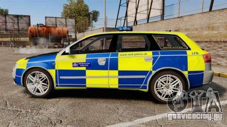 Audi S4 Avant Metropolitan Police [ELS] для GTA 4 вид слева
