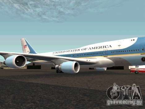Boeing-747-400 Airforce one для GTA San Andreas вид слева