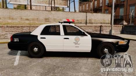 Ford Crown Victoria 1999 LAPD & GTA V LSPD для GTA 4 вид слева