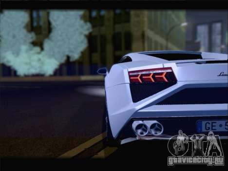 Lamborghini Gallardo 2013 для GTA San Andreas вид сверху