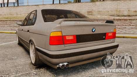 BMW M5 E34 для GTA 4 вид сзади слева