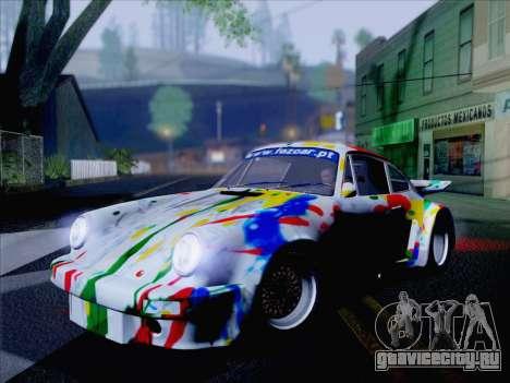 Porsche 911 RSR 3.3 skinpack 6 для GTA San Andreas вид сзади слева