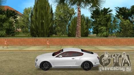 Bentley Continental Extremesports для GTA Vice City вид слева
