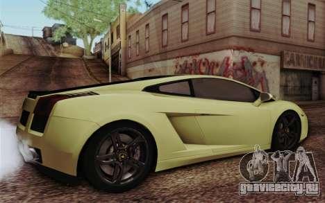 Lamborghini Gallardo SE для GTA San Andreas вид слева