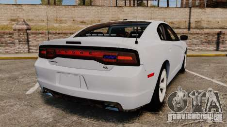 Dodge Charger RT 2012 Unmarked Police [ELS] для GTA 4 вид сзади слева