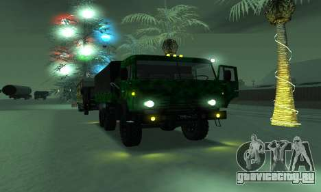 Армейский КАМАЗ 4310 для GTA San Andreas вид сзади