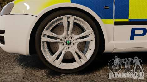 Skoda Superb 2006 Police [ELS] Whelen Edge для GTA 4 вид сзади