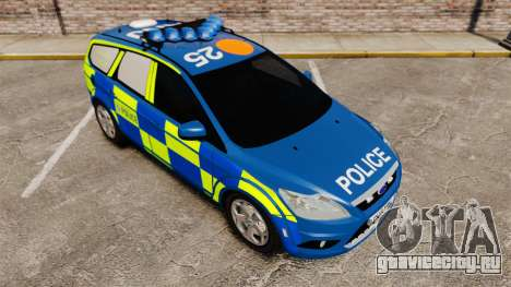 Ford Focus Estate 2009 Police England [ELS] для GTA 4 вид сбоку