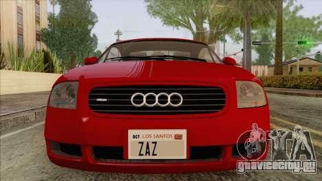 Audi TT 1.8T для GTA San Andreas вид сзади