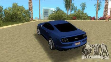 Ford Mustang GT 2015 для GTA Vice City вид сзади слева